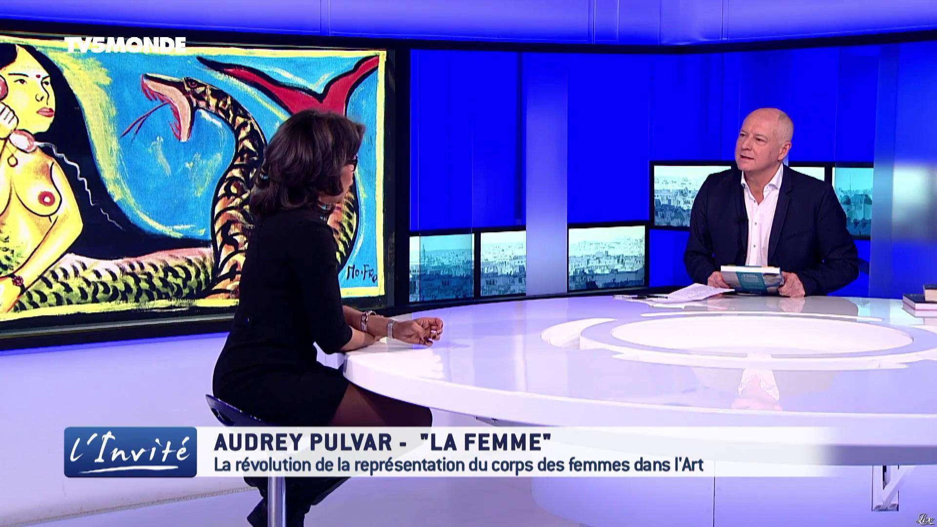 Audrey Pulvar dans l'Invite. Diffusé à la télévision le 18/03/17.
