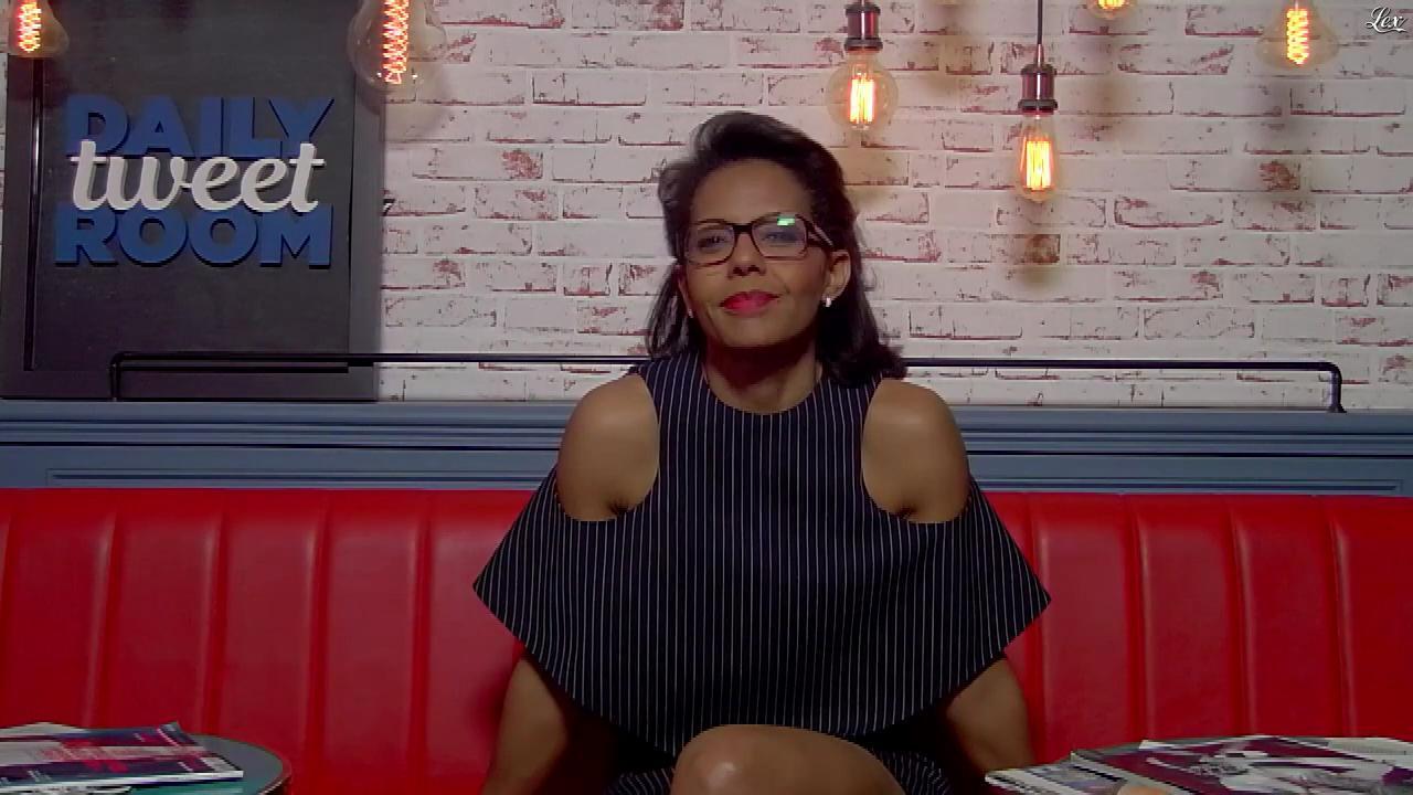 Audrey Pulvar dans la Daily Tweet Room. Diffusé à la télévision le 13/04/17.