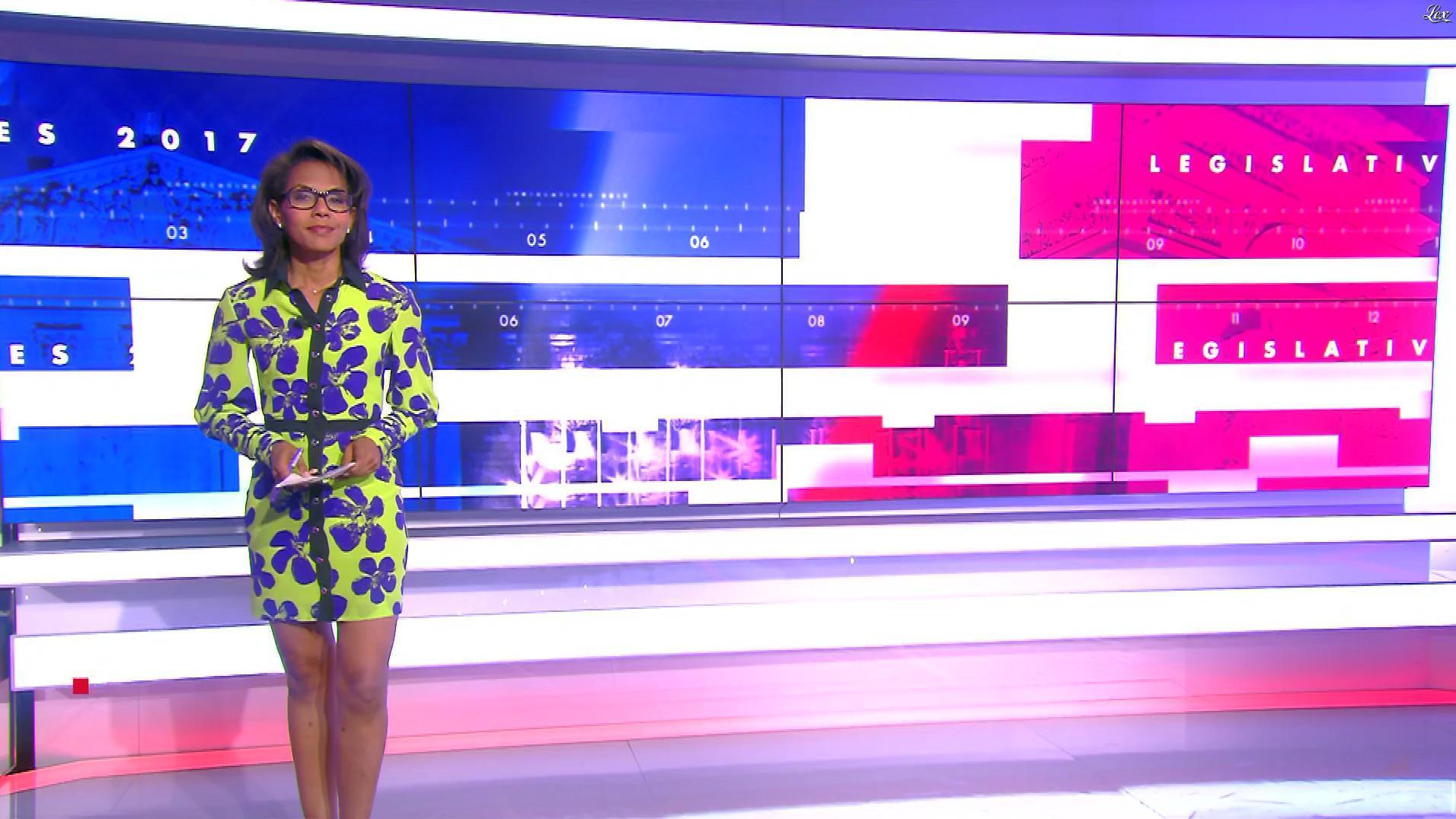 Audrey Pulvar lors de la Soirée des Legislatives. Diffusé à la télévision le 18/06/17.