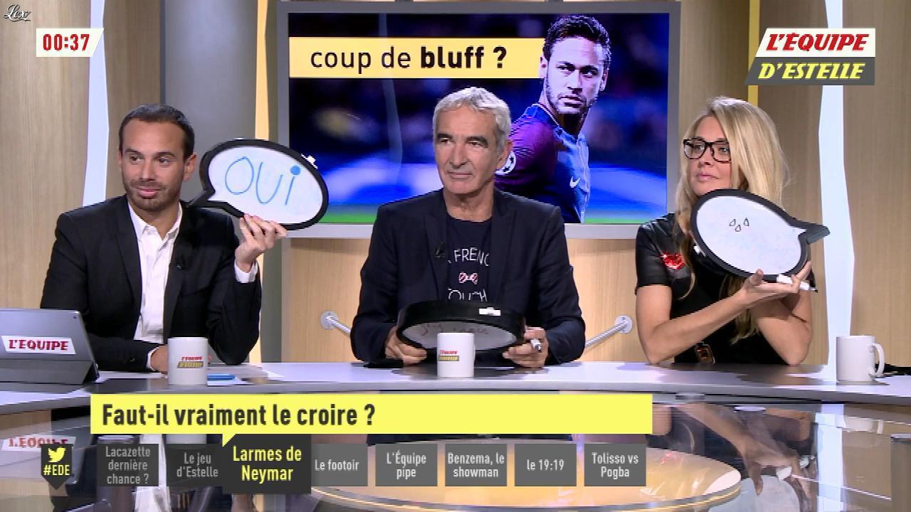 Carine Galli dans l'Equipe d'Estelle. Diffusé à la télévision le 13/11/17.