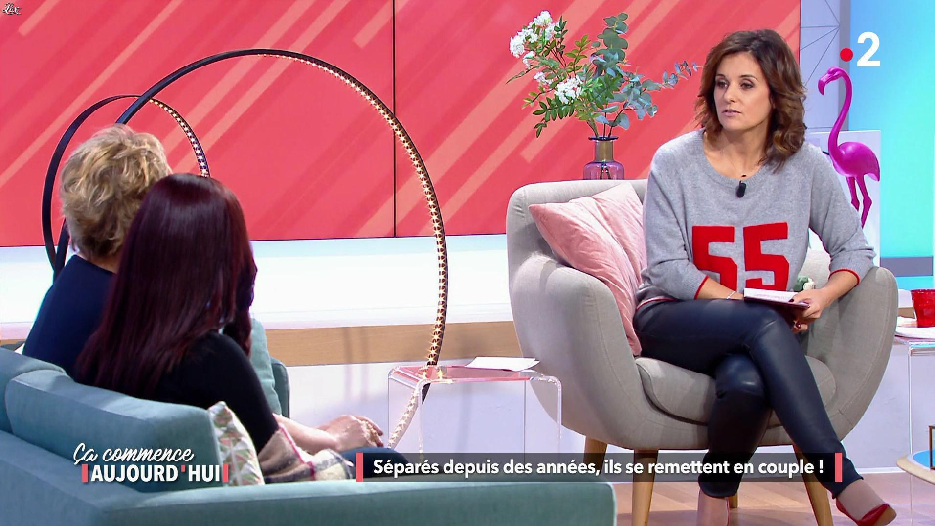 Faustine Bollaert dans Ça Commence Aujourd'hui. Diffusé à la télévision le 22/03/18.