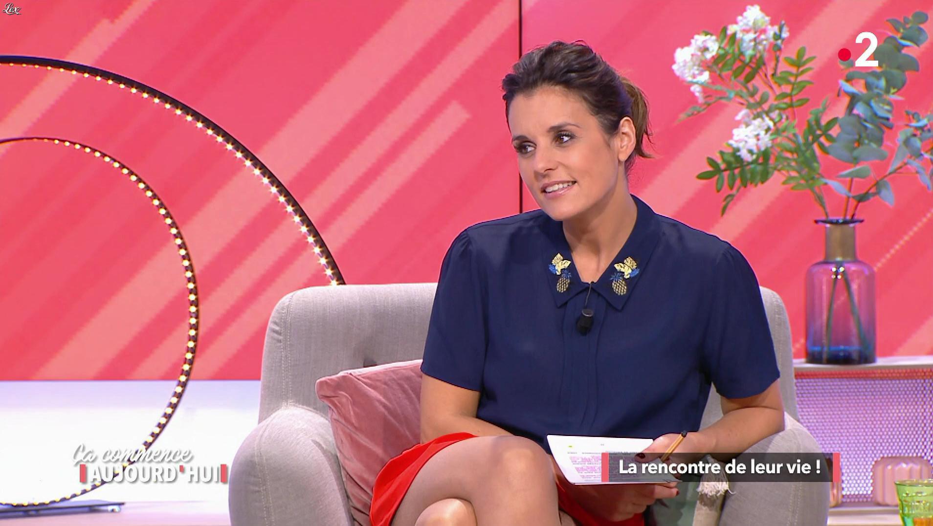 Faustine Bollaert dans Ça Commence Aujourd'hui. Diffusé à la télévision le 26/02/18.