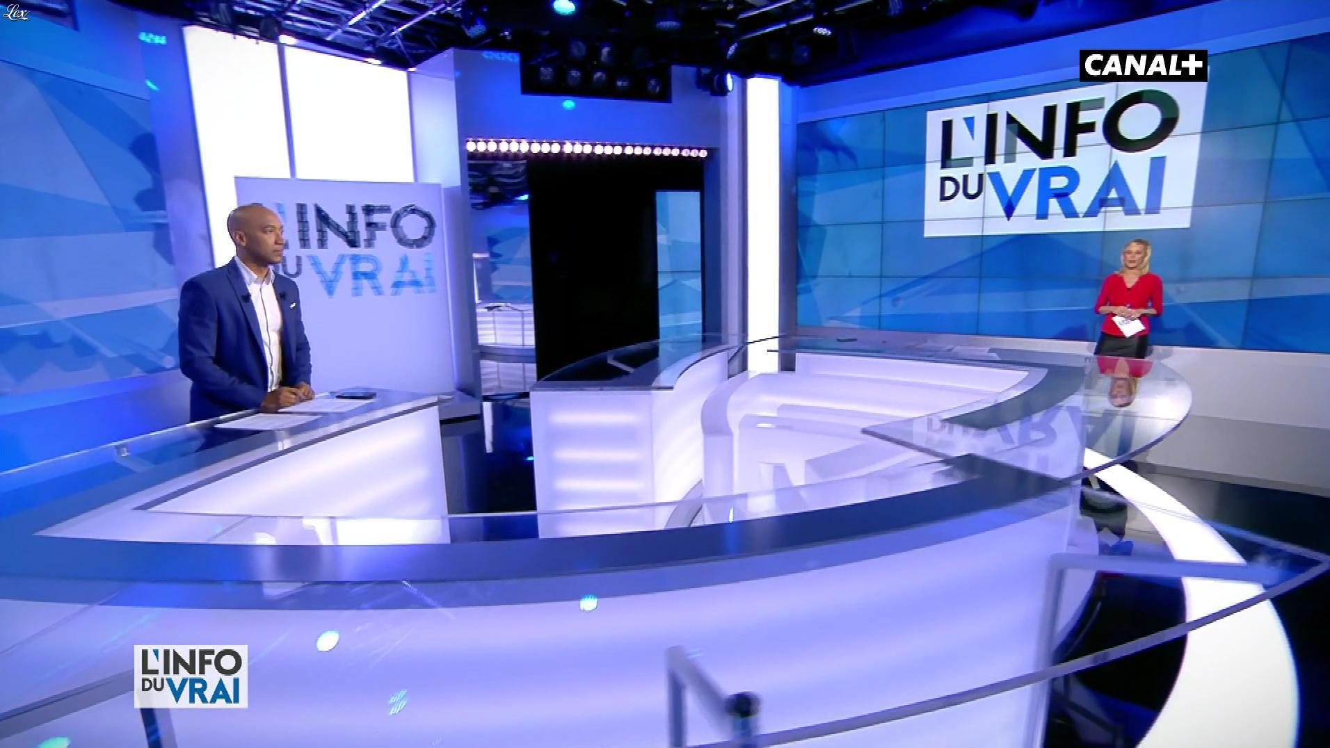 Laurence Ferrari dans l'Info du Vrai. Diffusé à la télévision le 09/03/18.