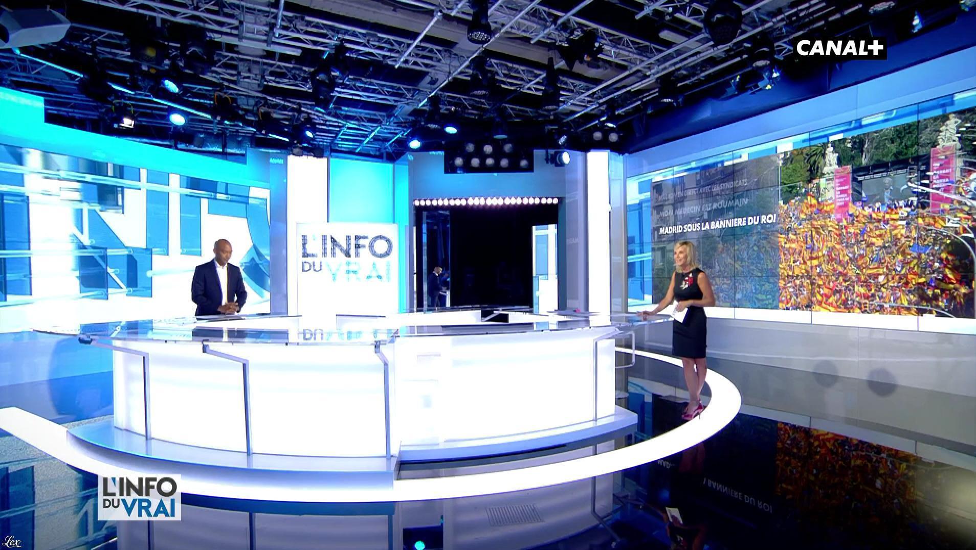 Laurence Ferrari dans l'Info du Vrai. Diffusé à la télévision le 13/10/17.