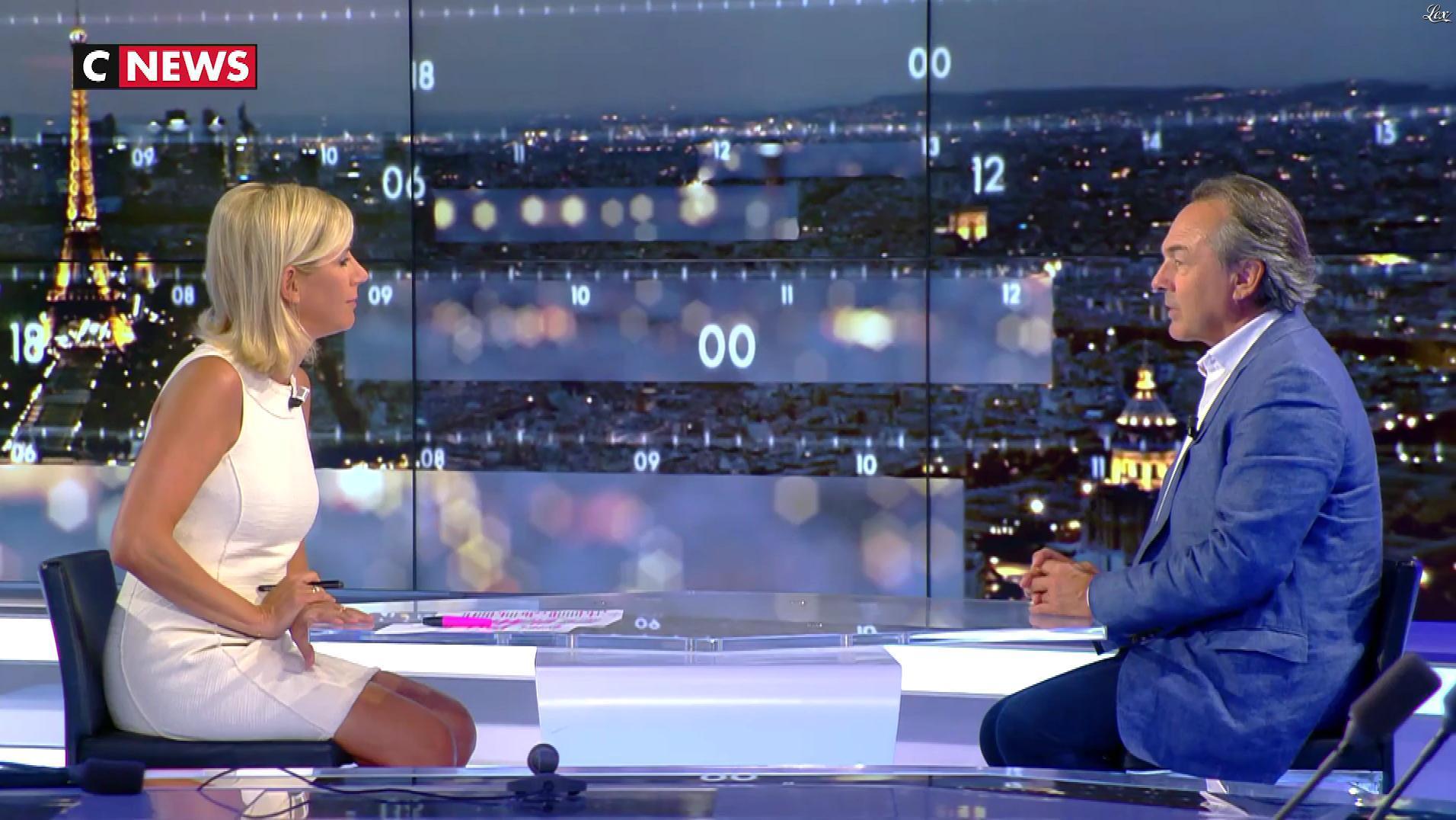 Laurence Ferrari dans le Grand JT. Diffusé à la télévision le 28/08/17.