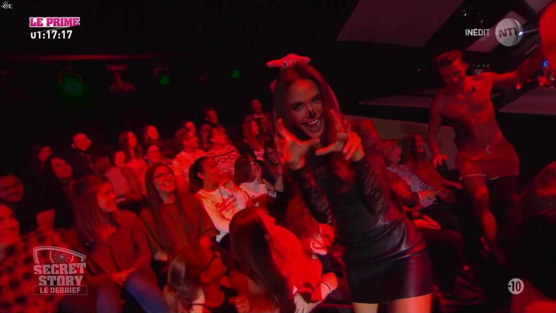 Leïla Ben Khalifa dans Secret Story le Debrief. Diffusé à la télévision le 01/11/17.