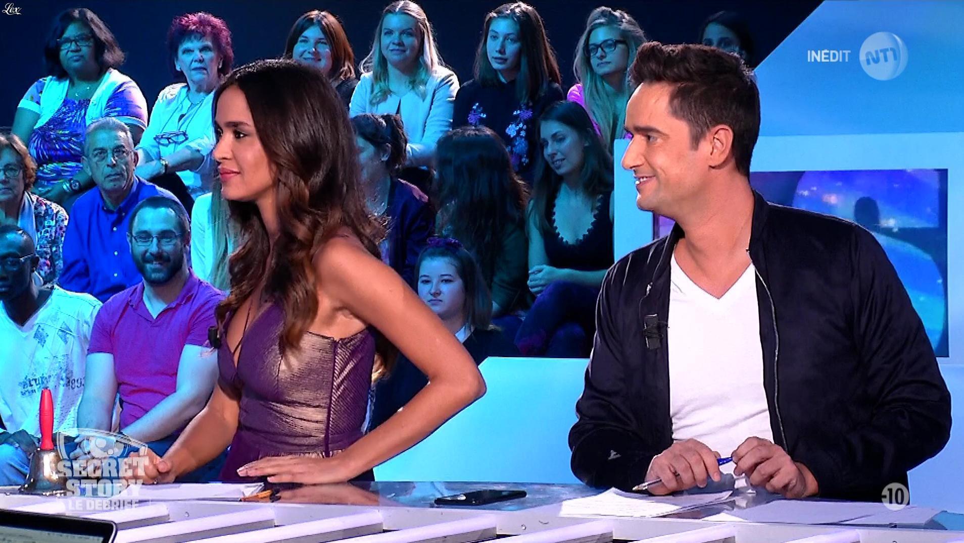 Leïla Ben Khalifa dans Secret Story le Debrief. Diffusé à la télévision le 03/10/17.