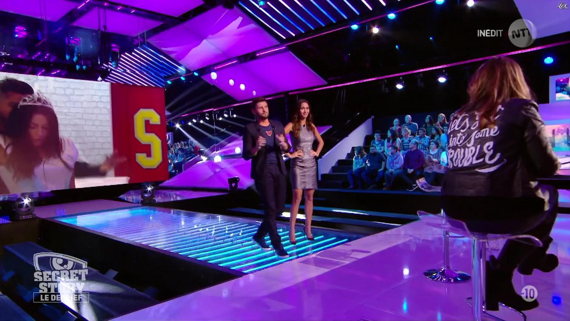 Leïla Ben Khalifa dans Secret Story le Debrief. Diffusé à la télévision le 11/10/17.