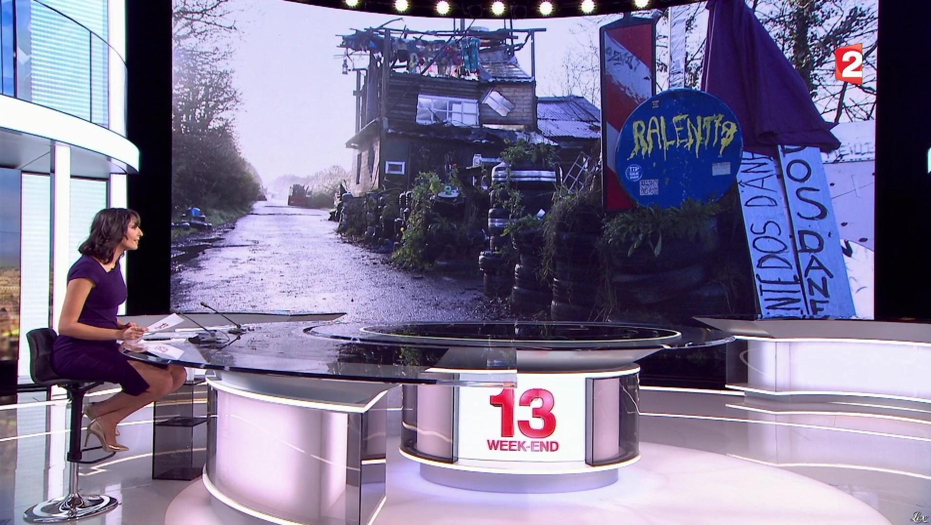 Leïla Kaddour dans le 13h. Diffusé à la télévision le 20/01/18.