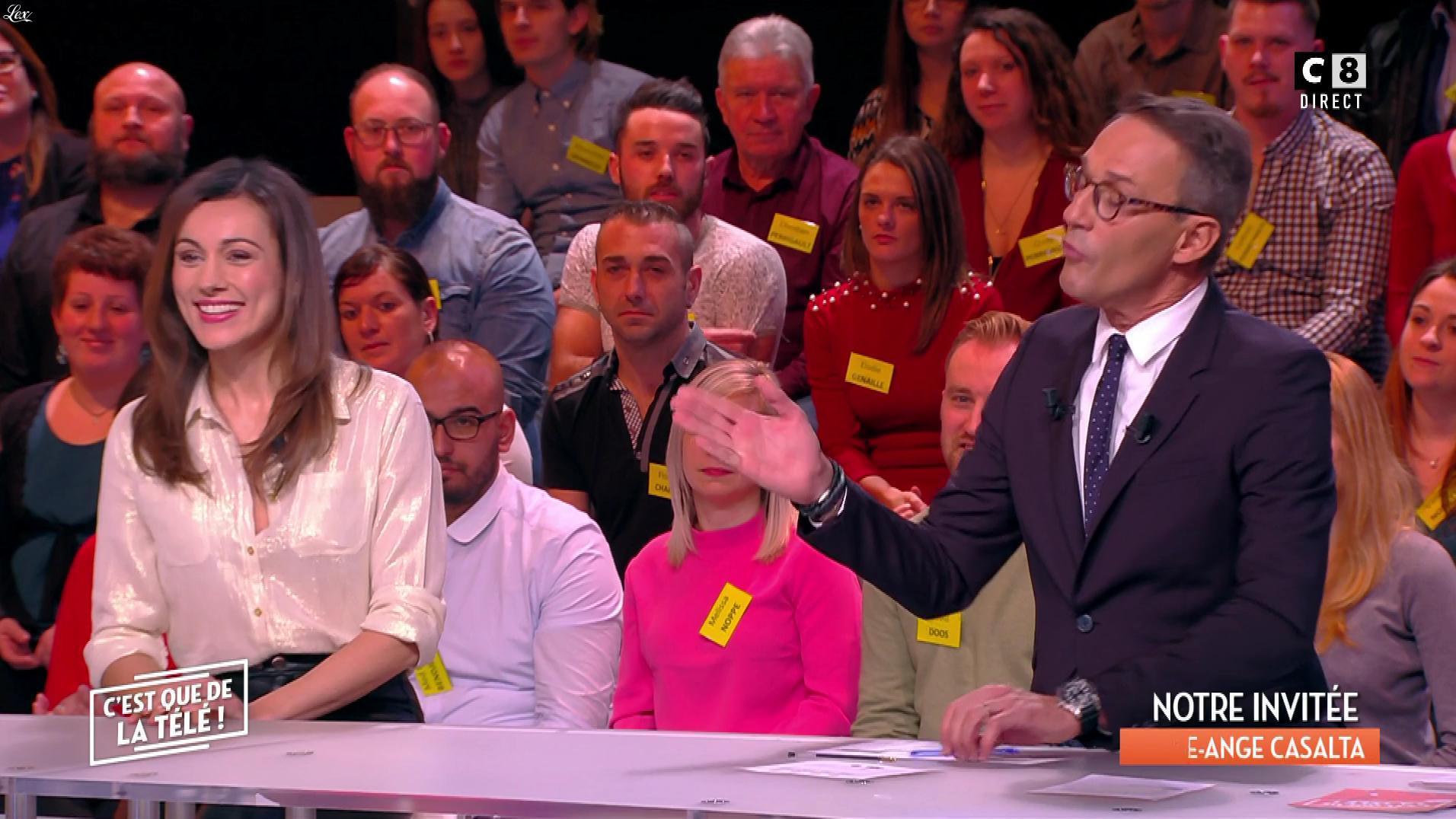 Marie-Ange Casalta dans c'est Que de la Télé. Diffusé à la télévision le 12/01/18.