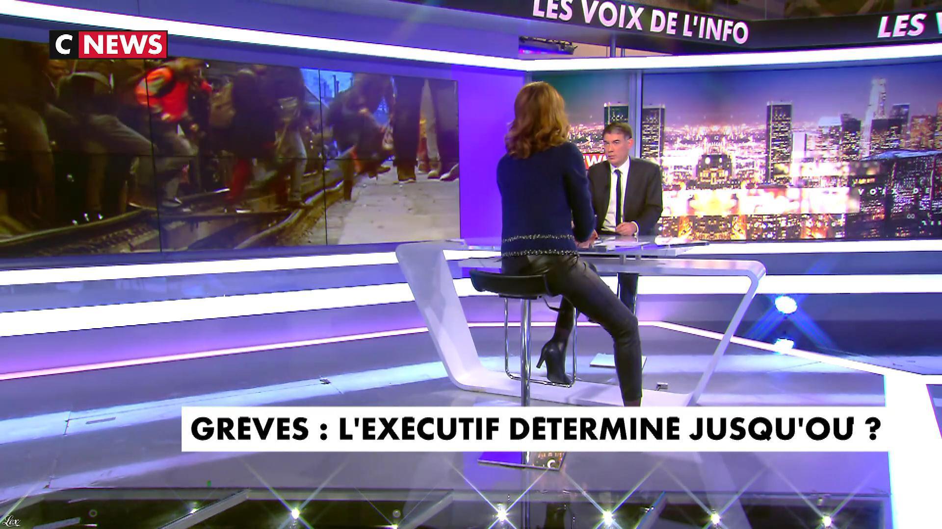 Sonia Mabrouk dans les Voix de l'Info. Diffusé à la télévision le 03/04/18.