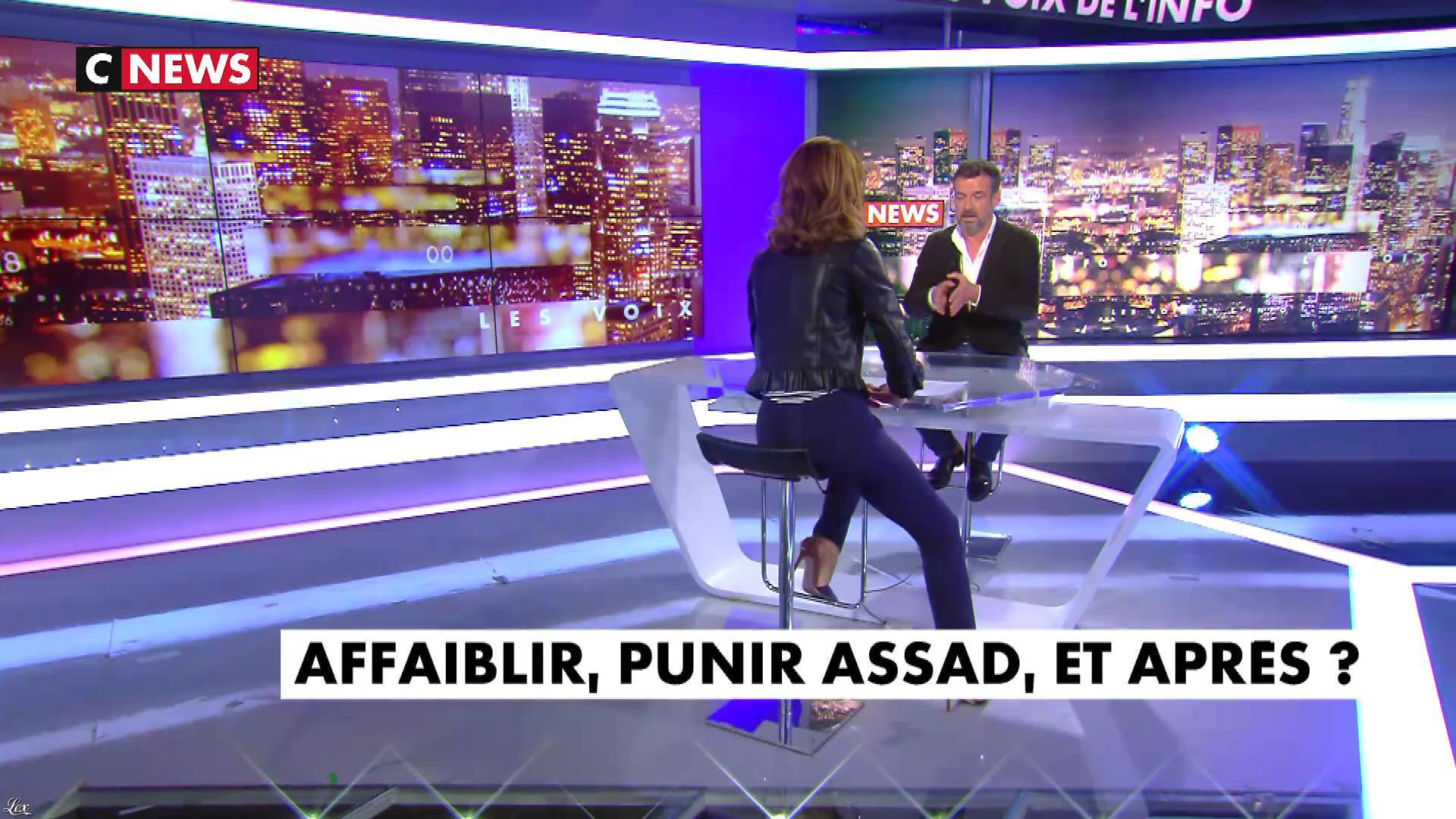Sonia Mabrouk dans les Voix de l'Info. Diffusé à la télévision le 11/04/18.