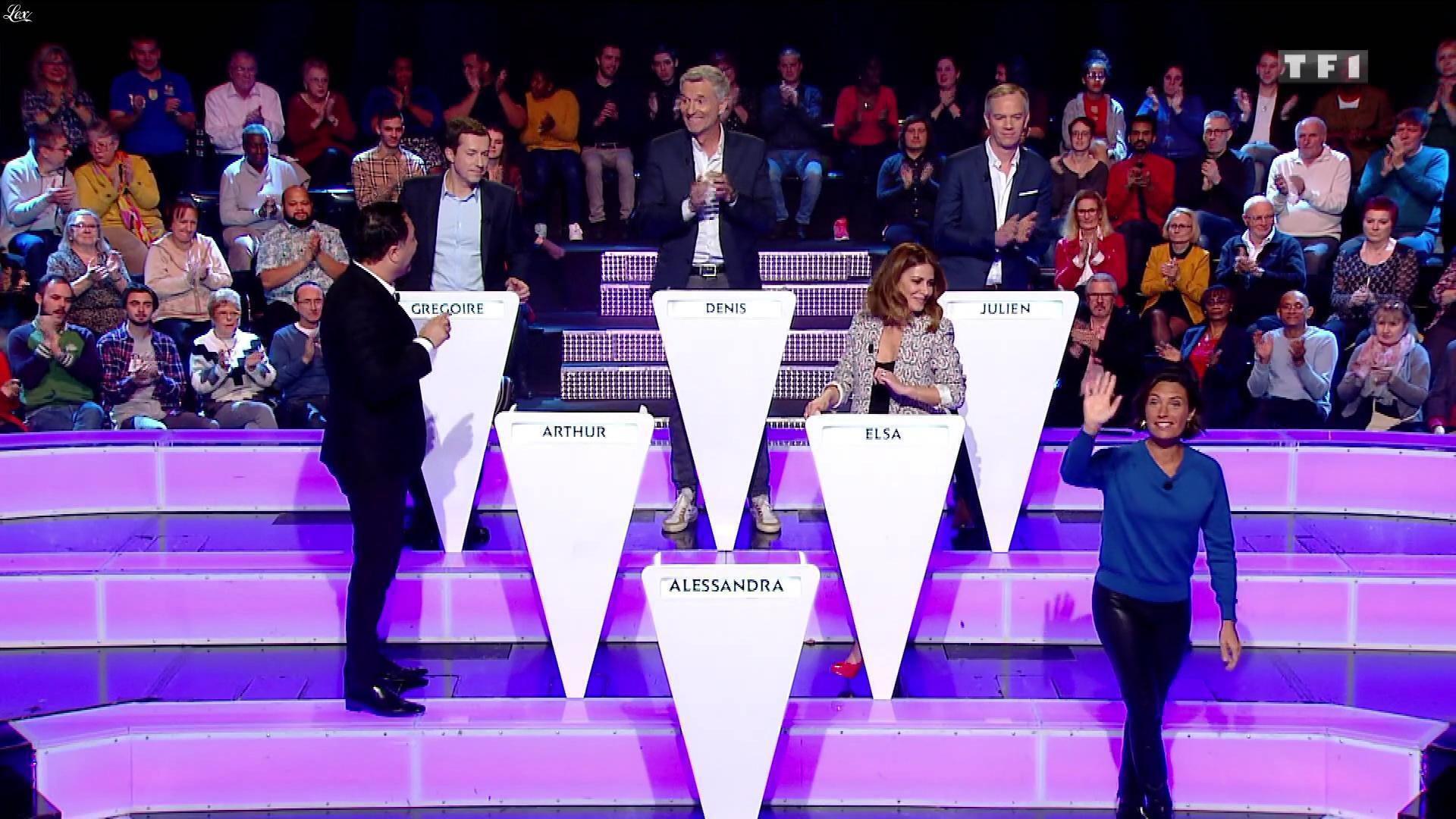 Alessandra Sublet dans le Grand Concours. Diffusé à la télévision le 10/01/20.