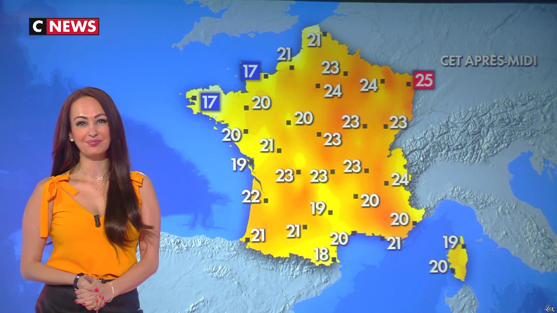 Alexandra Blanc à la Météo. Diffusé à la télévision le 07/04/20.
