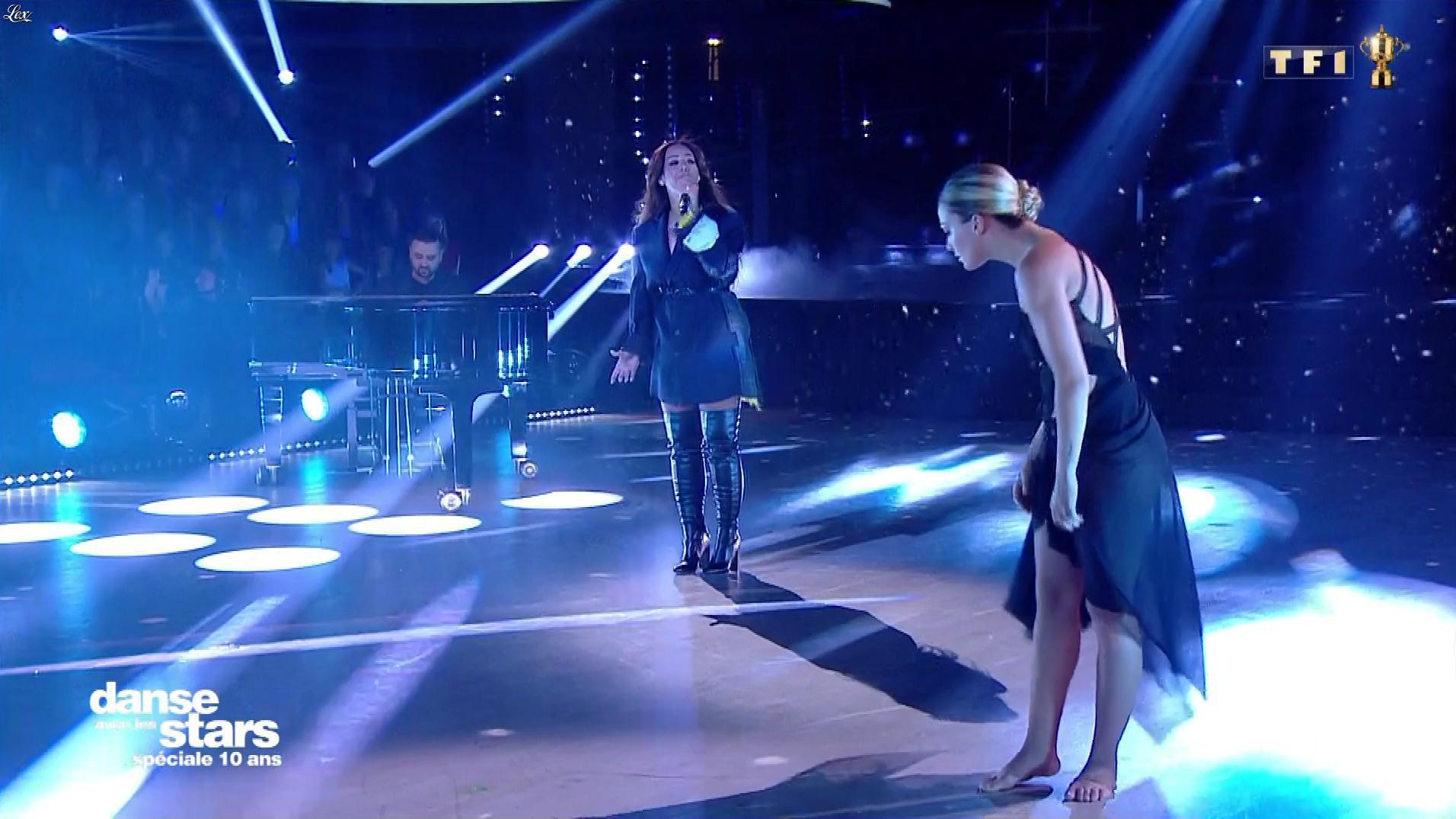 Amel Bent dans Danse avec les Stars. Diffusé à la télévision le 19/10/19.