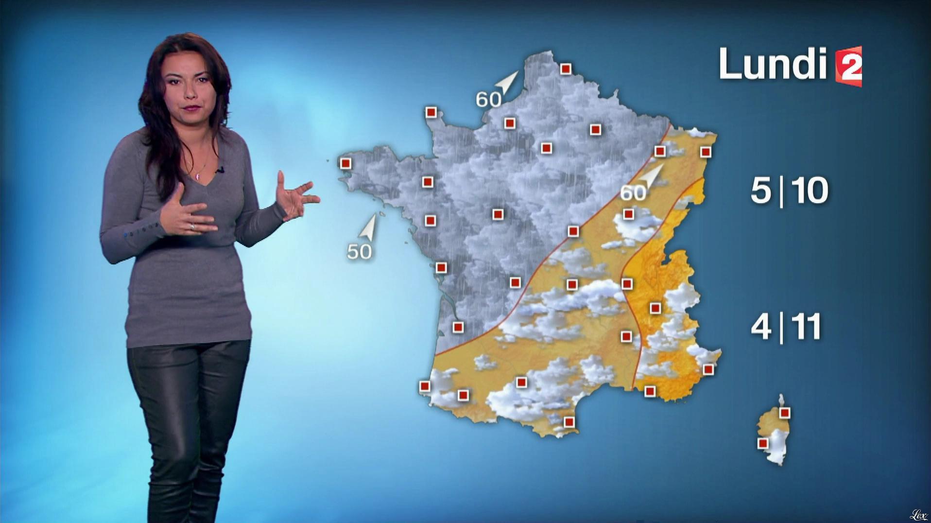 Anaïs Baydemir à la Météo de Midi. Diffusé à la télévision le 28/01/17.