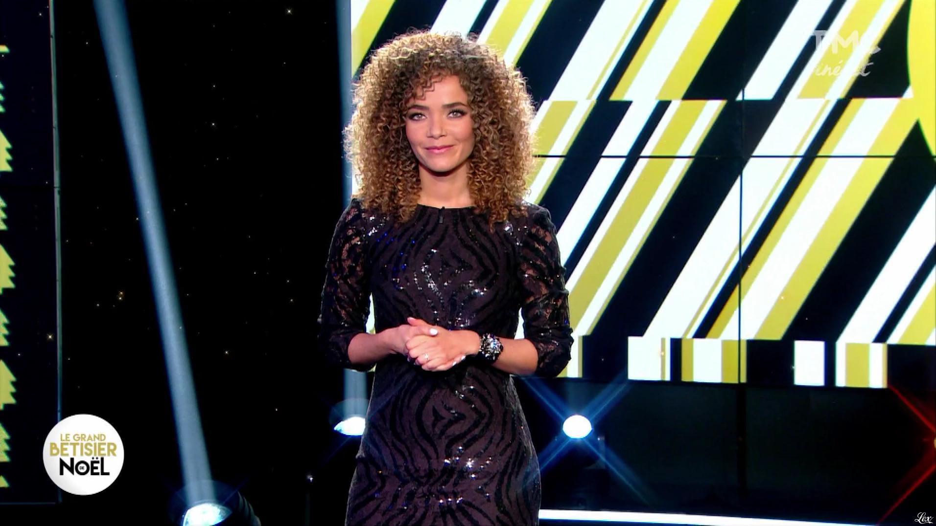 Anaïs Grangerac dans le Grand Bêtisier de Noel. Diffusé à la télévision le 22/12/19.