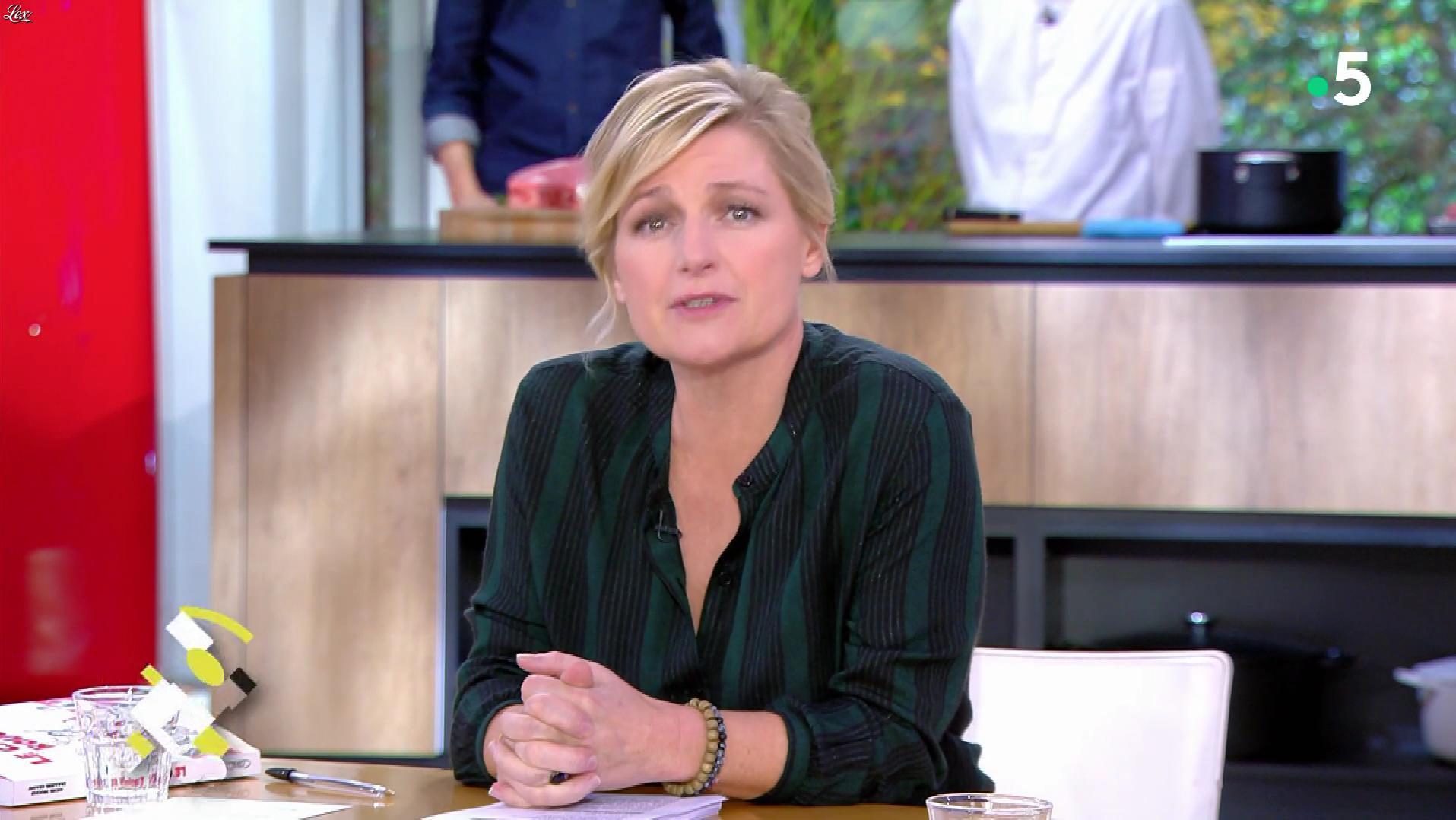 Anne-Elisabeth Lemoine dans C à Vous. Diffusé à la télévision le 22/11/19.