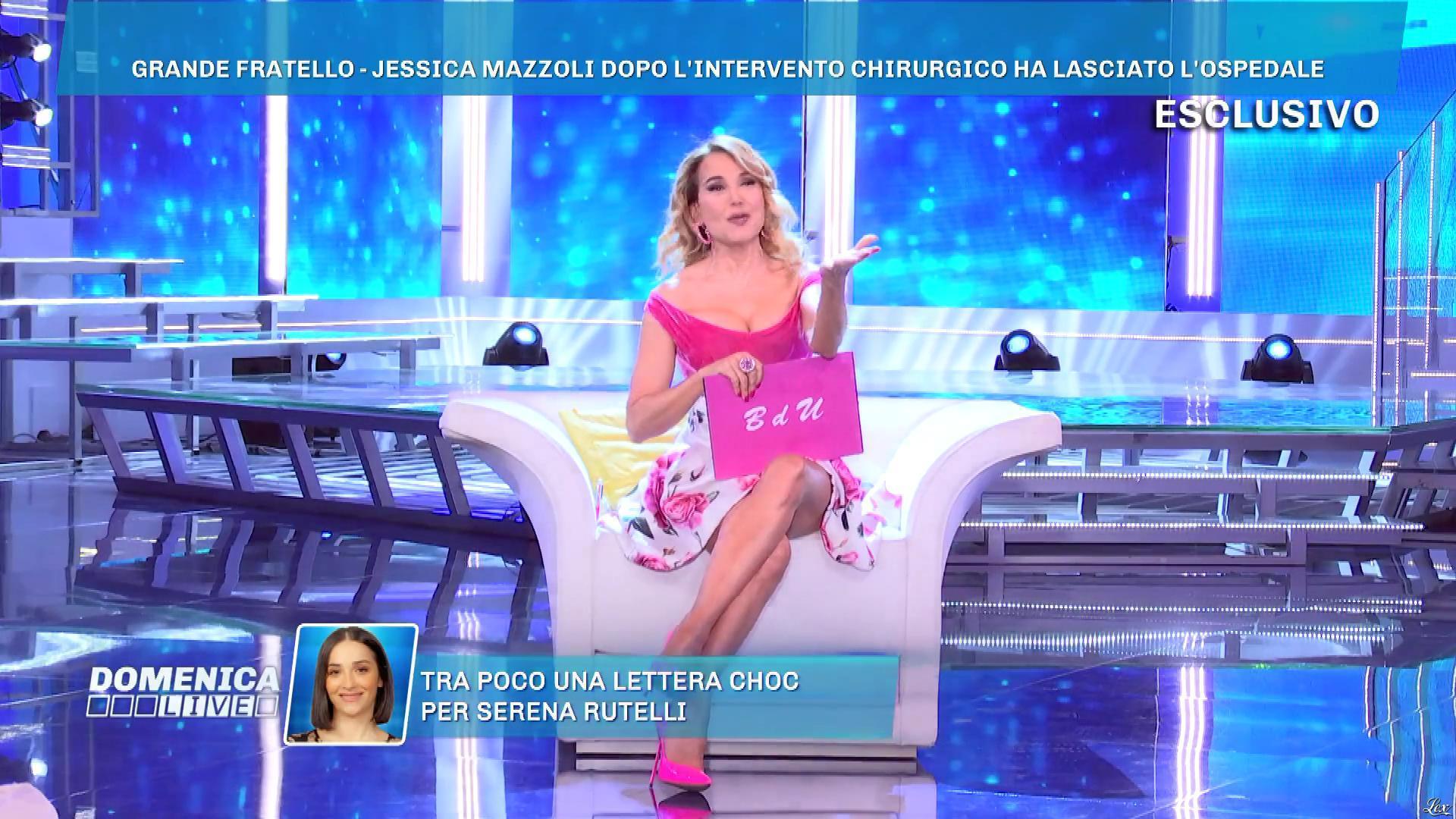 Barbara d'Urso dans DomeniÇa Live. Diffusé à la télévision le 28/04/19.