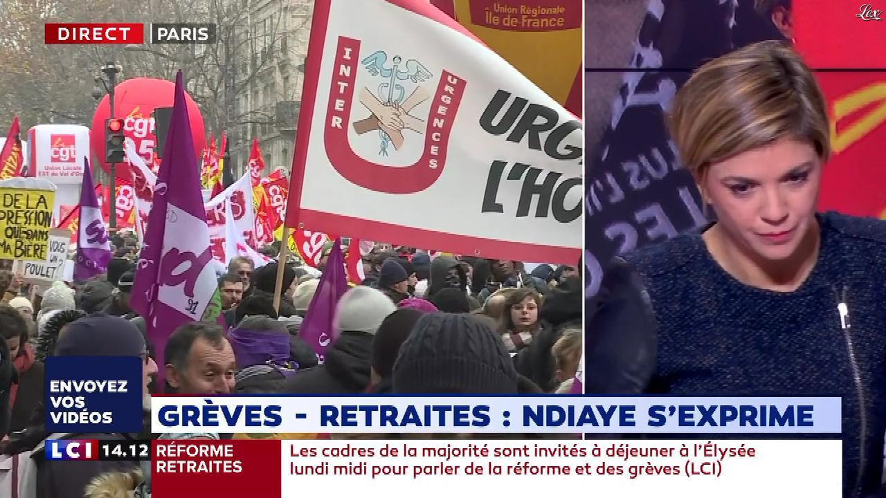 Bénédicte Le Chatelier dans le Club Le Chatelier. Diffusé à la télévision le 05/12/19.