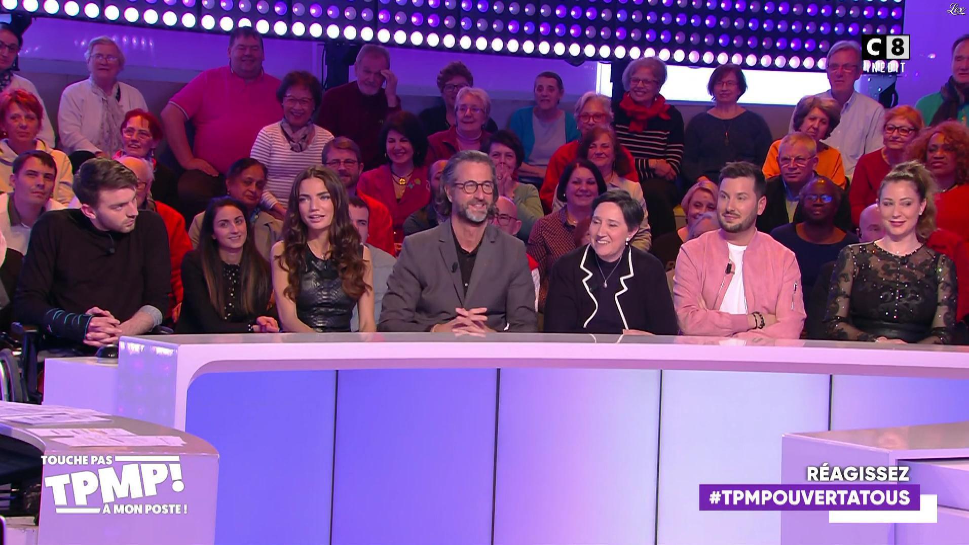 FrancesÇa Antoniotti et Magali Berdah dans Touche pas à mon Poste. Diffusé à la télévision le 13/03/20.