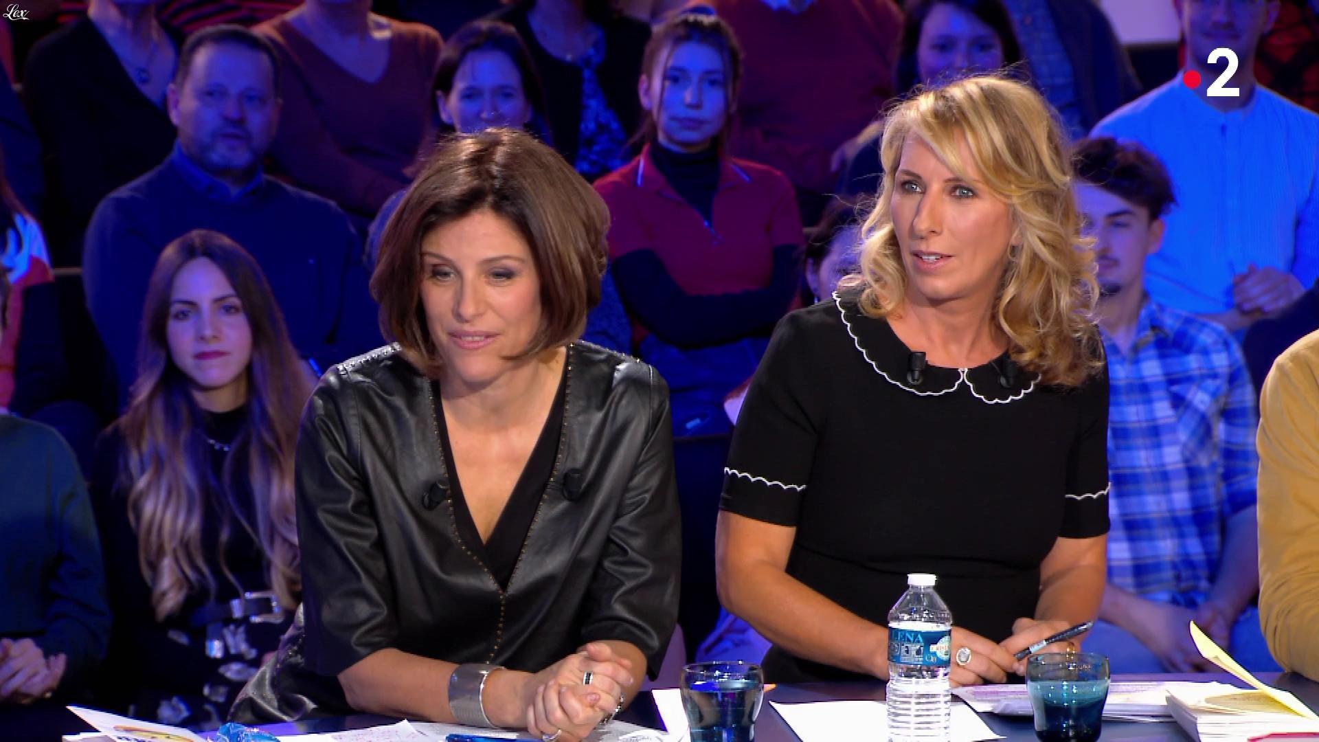 Géraldine Muhlmann dans On n'est pas Couché. Diffusé à la télévision le 18/01/20.