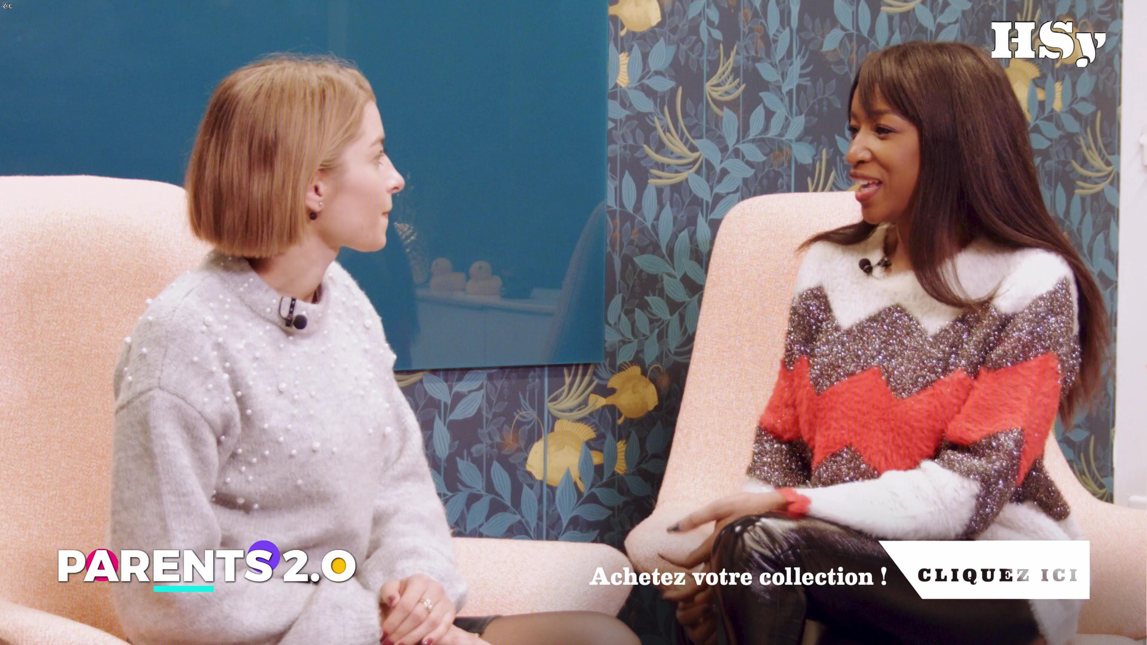 Hapsatou Sy dans Parents 2.0. Diffusé à la télévision le 05/12/18.