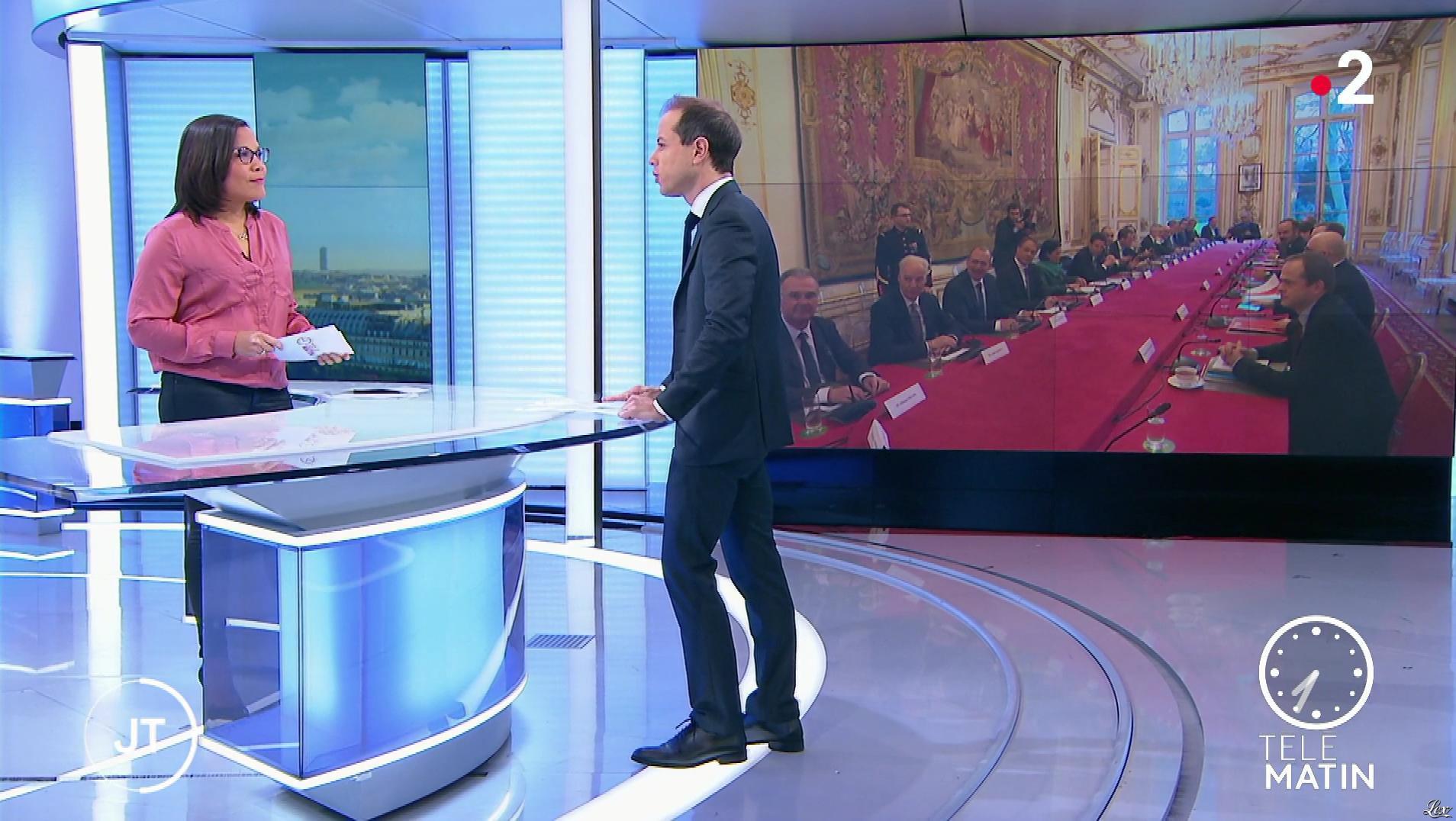 Karine Baste-Régis dans Télématin. Diffusé à la télévision le 10/01/20.
