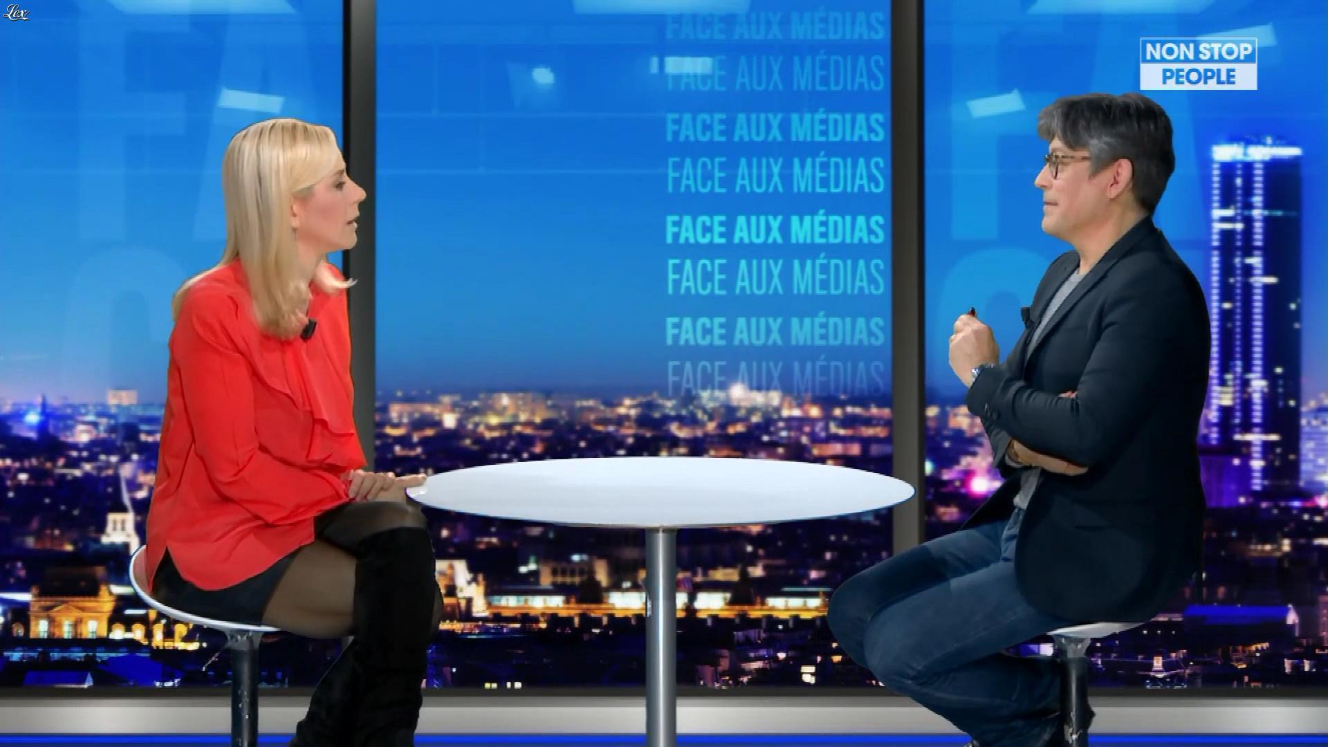Laurence Ferrari dans une Bande-Annonce de Face aux Medias. Diffusé à la télévision le 07/03/20.
