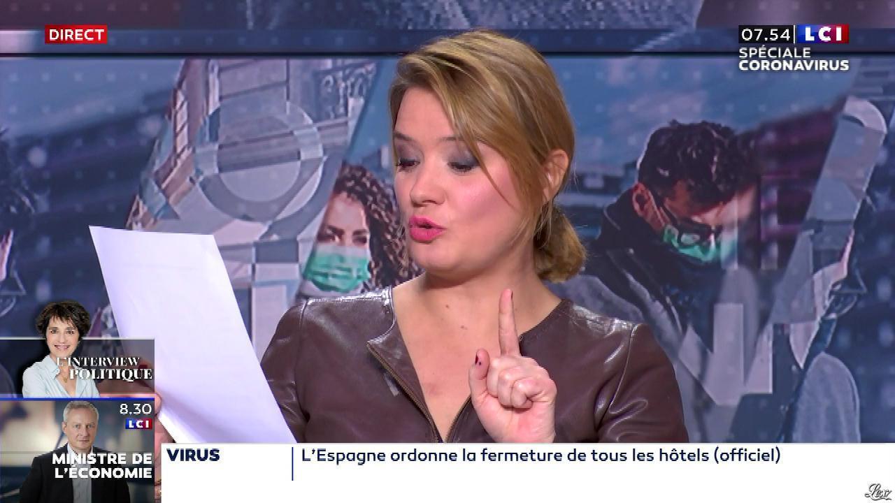 Pascale De La Tour Du Pin dans la Matinale. Diffusé à la télévision le 20/03/20.