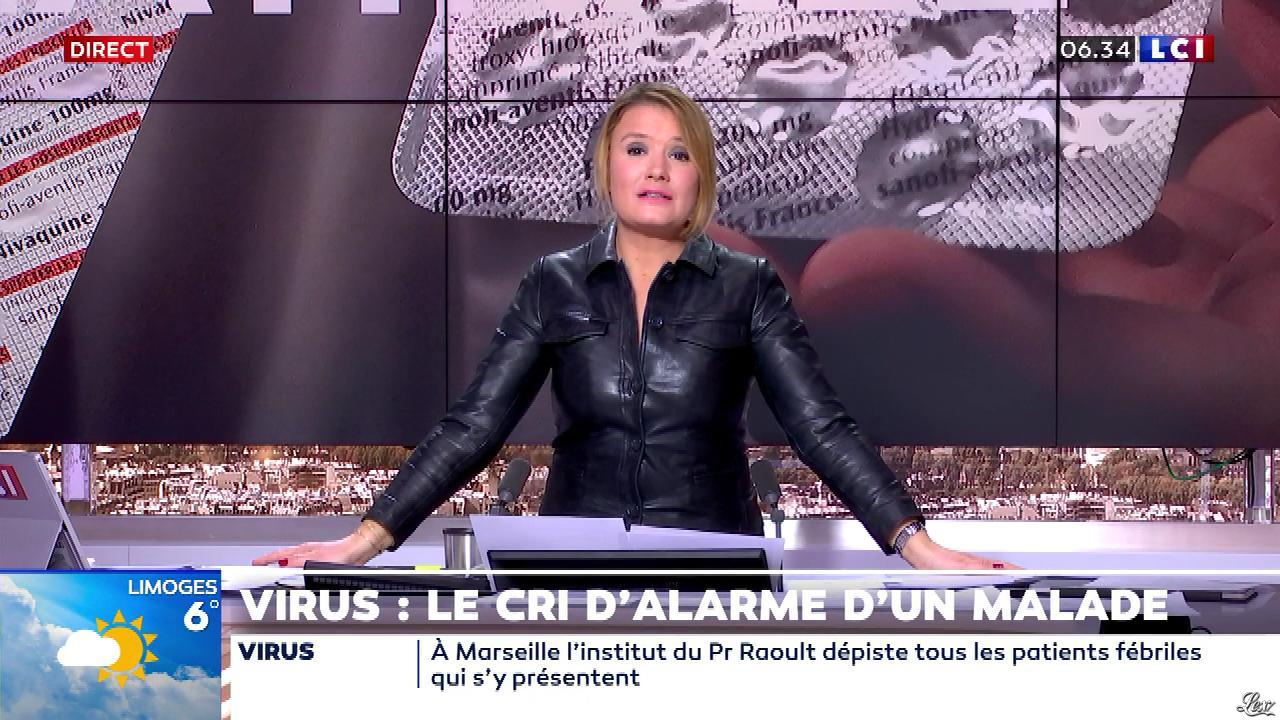 Pascale De La Tour Du Pin dans la Matinale. Diffusé à la télévision le 23/03/20.