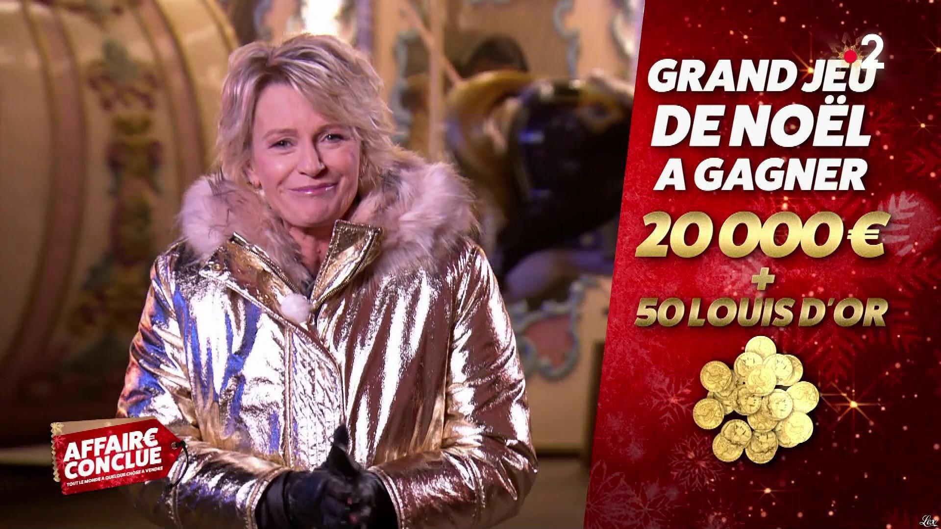 Sophie Davant dans Affaire Conclue. Diffusé à la télévision le 23/12/19.