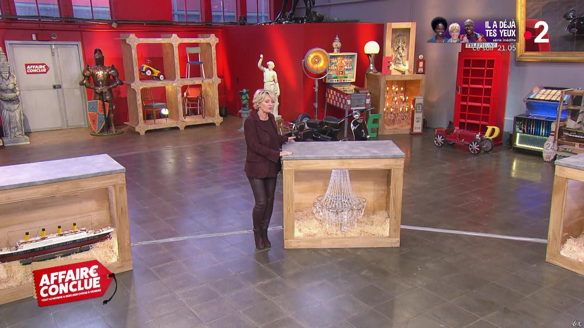 Sophie Davant dans Affaire Conclue. Diffusé à la télévision le 26/02/20.