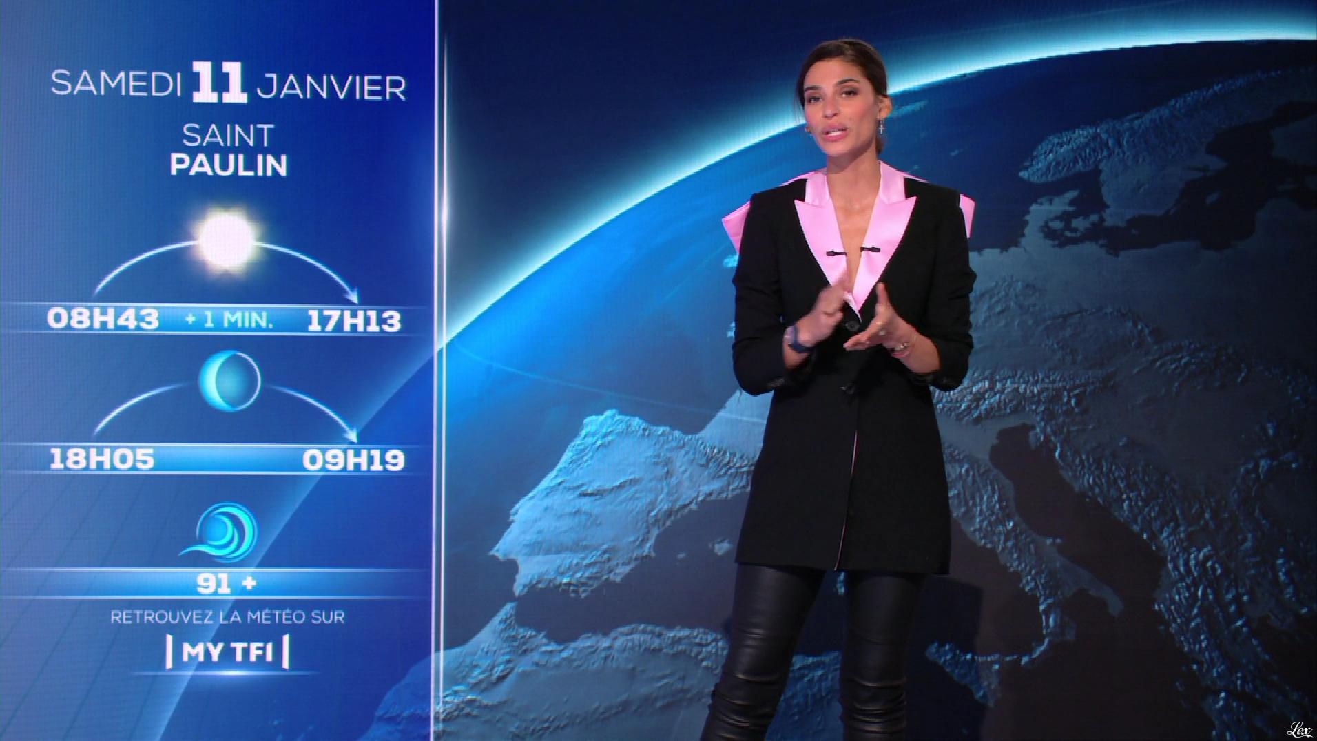 Tatiana Silva à la Météo du Soir. Diffusé à la télévision le 10/01/20.