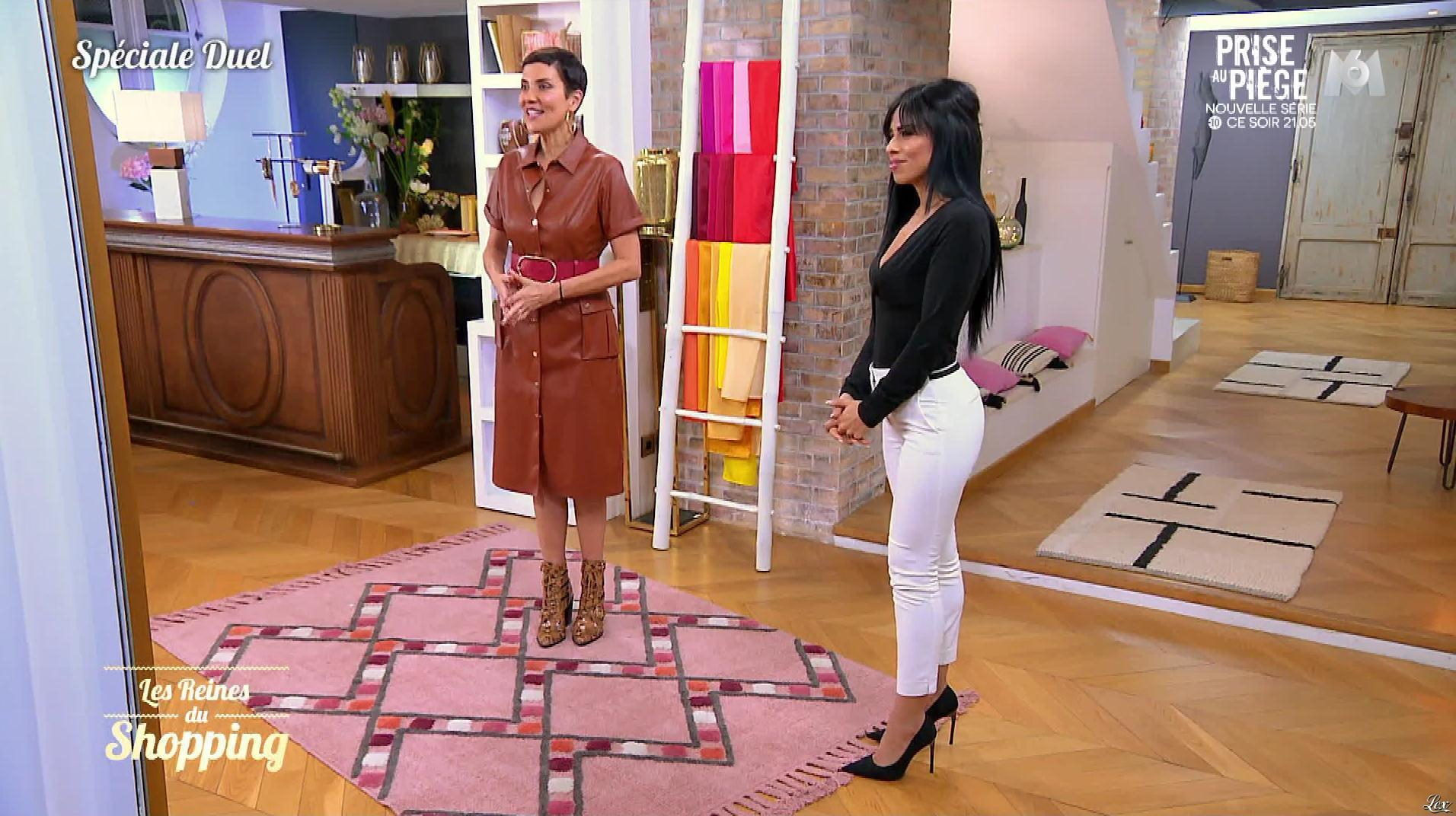 Une Candidate et Cristina Cordula dans les Reines du Shopping. Diffusé à la télévision le 11/12/19.