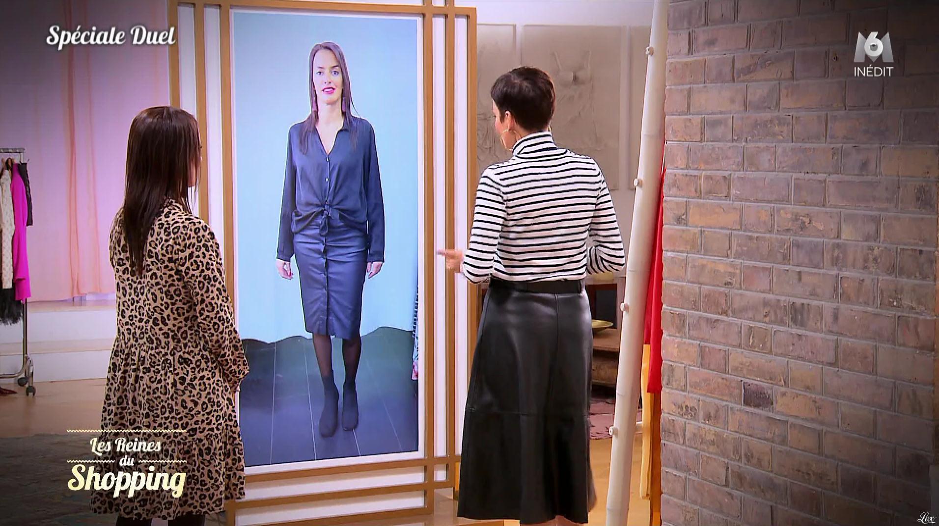 Une Candidate et Cristina Cordula dans les Reines du Shopping. Diffusé à la télévision le 19/12/19.