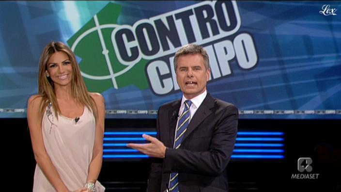 Alessia Ventura dans Controcampo. Diffusé à la télévision le 10/04/11.
