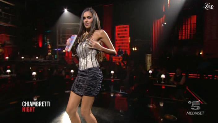 Daniele Sampaio dans Chiambretti Night. Diffusé à la télévision le 22/10/10.