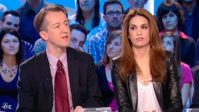 Sonia Mabrouk dans le Grand Journal De Canal Plus. Diffusé à la télévision le 14/01/11.