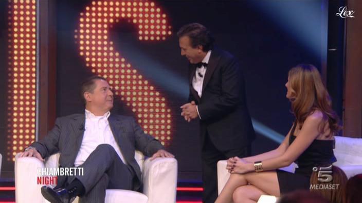 Thais Wigger dans Chiambretti Night. Diffusé à la télévision le 22/10/10.