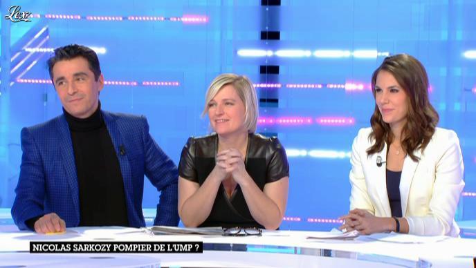 Anne-Elisabeth Lemoine et Emilie Besse dans la Nouvelle Edition. Diffusé à la télévision le 26/11/12.