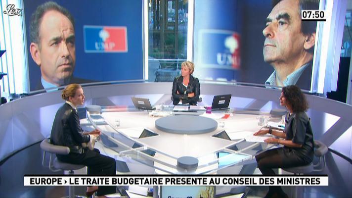 Apolline de Malherbe, Ariane Massenet et Nathalie Kosciusko-Morizet dans la Matinale. Diffusé à la télévision le 19/09/12.