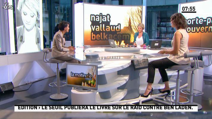 Ariane Massenet et Apolline de Malherbe dans la Matinale. Diffusé à la télévision le 03/09/12.