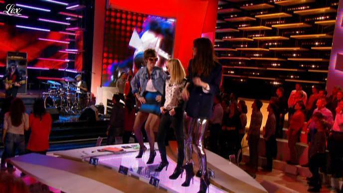 Audrey Lamy, Daphné Burki et Doria Tillier dans le Grand Journal de Canal Plus. Diffusé à la télévision le 14/11/12.