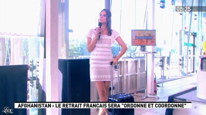 Julia Vignali dans la Matinale. Diffusé à la télévision le 25/05/12.