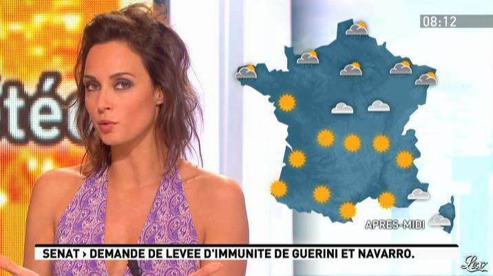 Julia Vignali dans la Matinale. Diffusé à la télévision le 28/02/12.