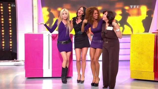 Les Gafettes, Fanny Veyrac, Doris Rouesne et Nadia Aydanne dans le Juste Prix. Diffusé à la télévision le 11/09/12.