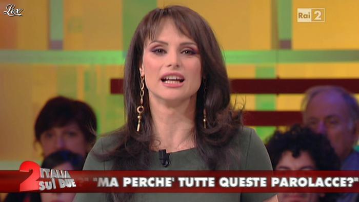 Lorena Bianchetti dans Italia Sul Due. Diffusé à la télévision le 17/02/12.