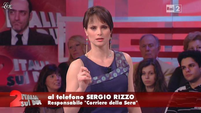 Lorena Bianchetti dans Italia Sul Due. Diffusé à la télévision le 29/02/12.