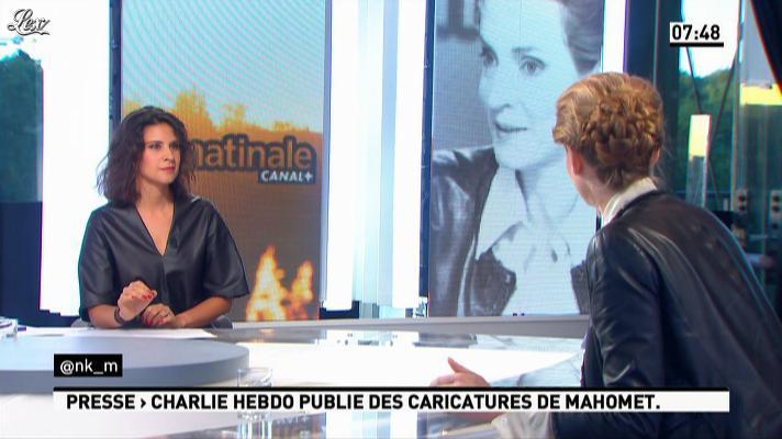 Nathalie Kosciusko-Morizet et Apolline de Malherbe dans la Matinale. Diffusé à la télévision le 19/09/12.